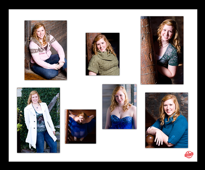 Dallas senior pictures collage