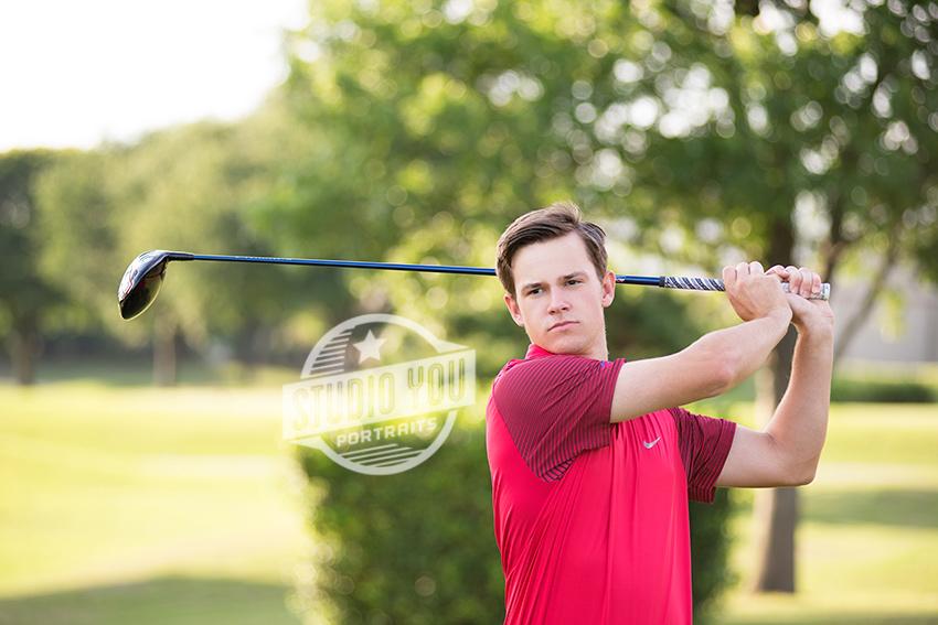 golfer senior portraits
