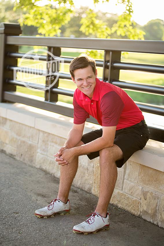 senior boy poses Dallas
