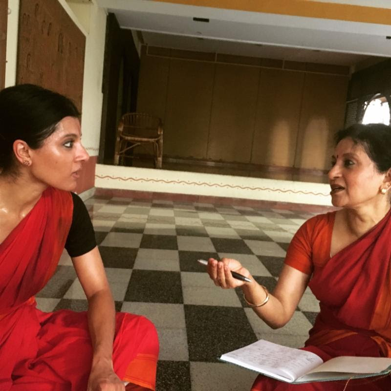 Left to right - Aparna and Ranee working in Chennai, India (May 2016)
