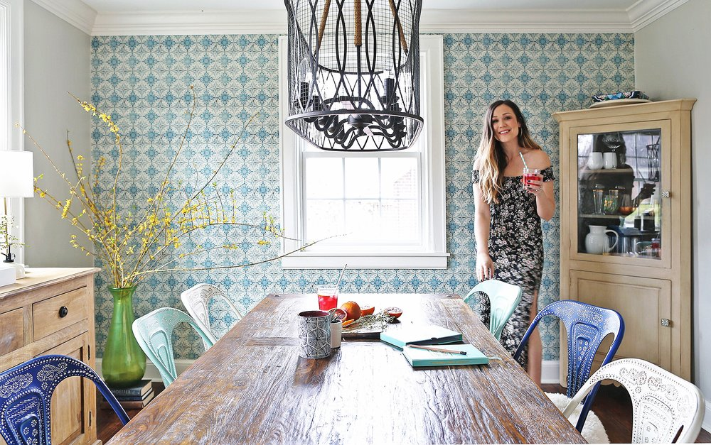 A Bright and Colorful Nashville Dining Room   Life of Plenty Home