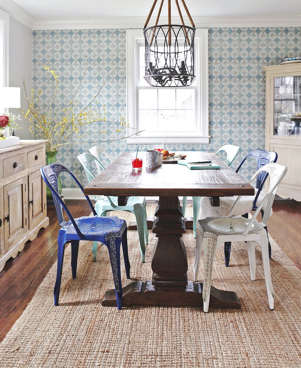 A Bright and Colorful Nashville Dining Room | Life of Plenty Home