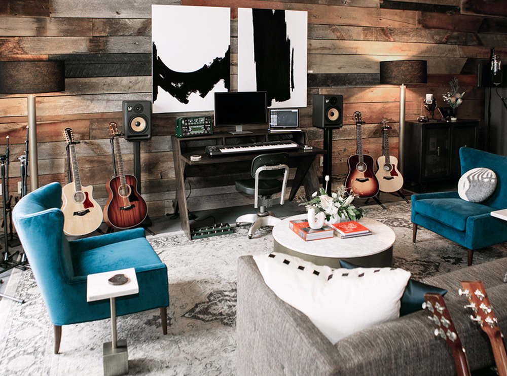 "Nashville Spotify ""Secret Genius"" Writing Studio designed by Life of Plenty"