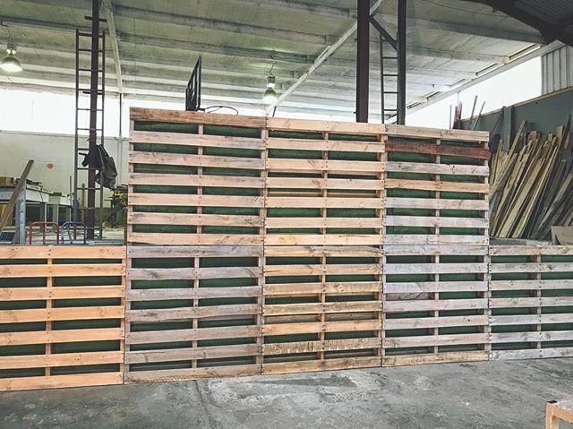 Pallet Wall set up💫
