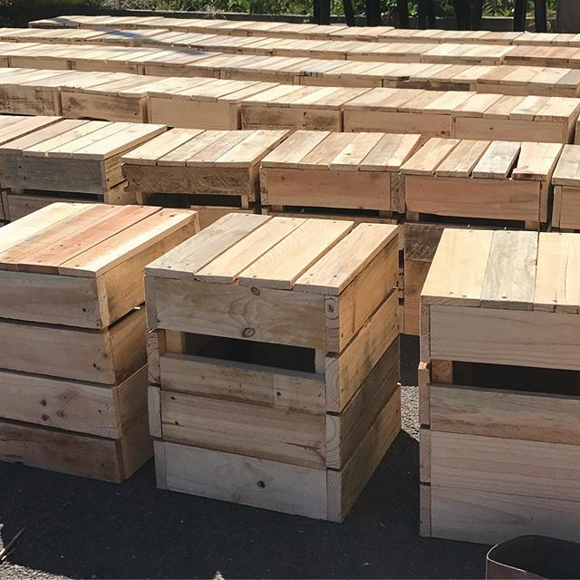 Fresh box seats 🌿 #sustainable #furniture #hire