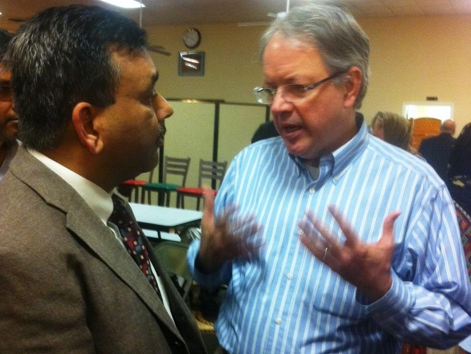 Mayor-elect Tecklenburg with Central Mosque of Charleston's President Shahid Husain.