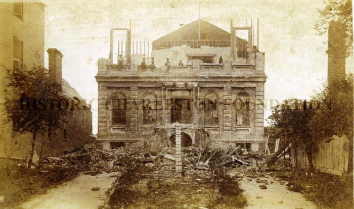 Charleston Club House after the 1886 earthquake. Credit: Historic Charleston Foundation.