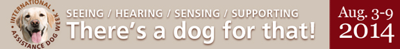 Service dogs week banner