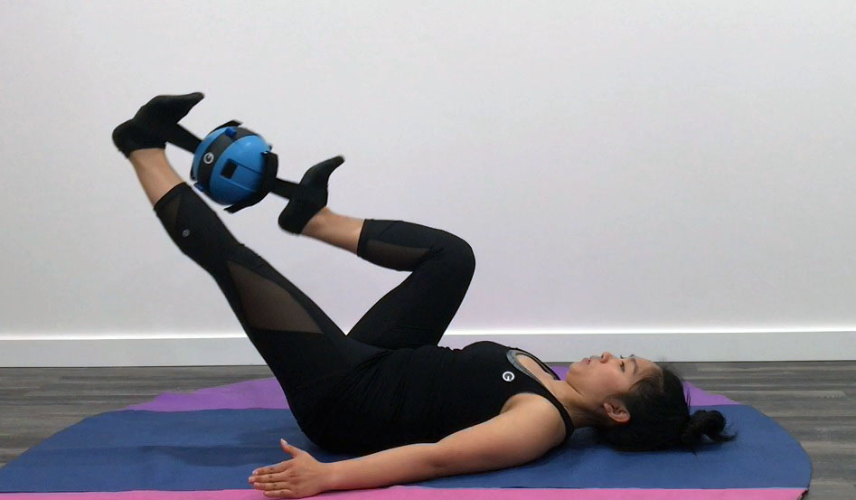 A Gravity Ball bicycle is an example of an exercise done in the lying position.