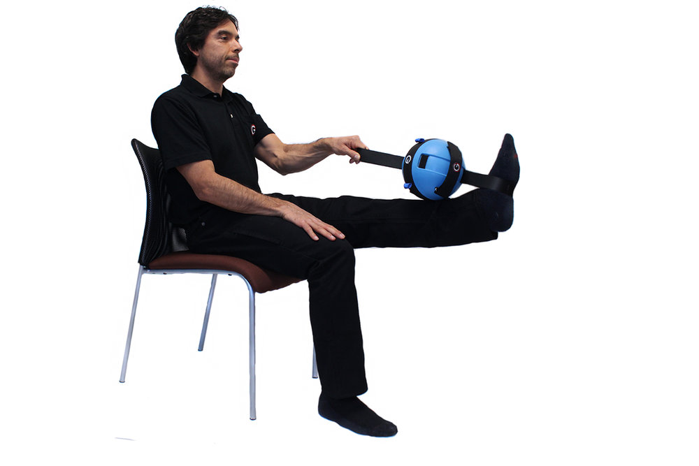 Dr. Chavez demonstrates an exercise for improved hip mobility in a seated position.