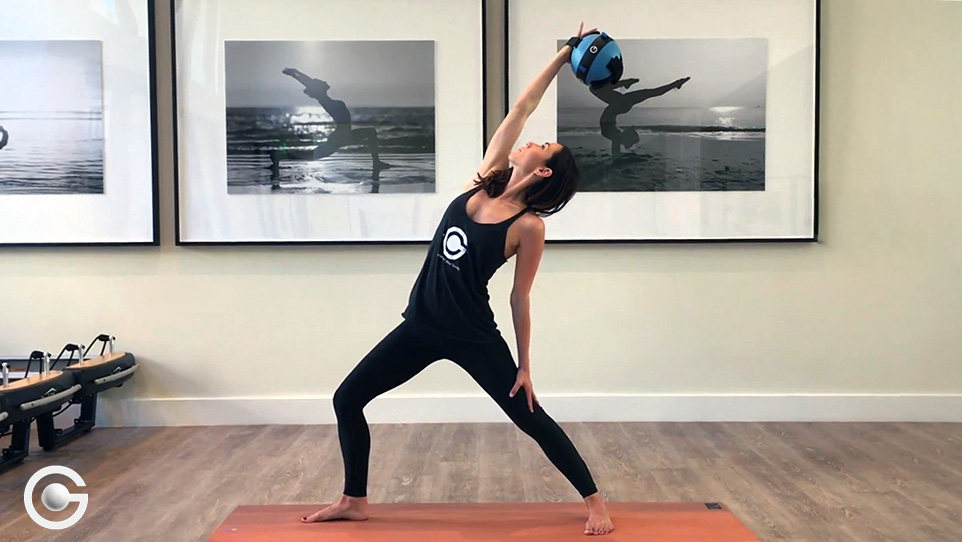 Incorporating a Gravity Ball™ into your yoga practice will challenge your core stabilization