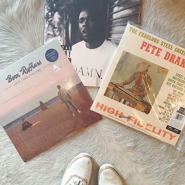 OUT TODAY〰Damn. Limited Color Edition • Pete Drake Red wax • Born Ruffians . . . . . #damn #kendricklamar #petedrake #bornruffians #tgif #vinyl #recordstore #records