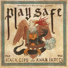 """Black Lips & Khan Family """"Play Safe""""   Recordings culled from The Black Lips visit to Berlin in 2017 along with other song interpertations by King Khan, his daughter Saba Lou, and assorted members of the Khan Family. It is being released in association with Viva Con Agua, a non profie that has helped over 2000000 people get access to clean water in Uganda, Ethiopia, and other countries throughout South America and Asia. Clear blue vinyl with light blue, dark blue and green splatter."""