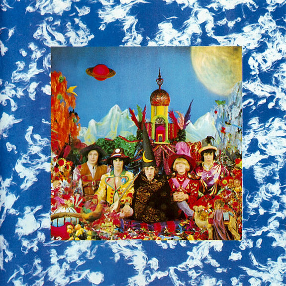 """The Rolling Stones """"Their Satanic Majesties Request""""   Recorded at London's legendary Olympic Studios during the heady days of the 'Summer of Love,' in a landscape of fervent creativity - Pet Sounds, Sgt. Pepper, Hendrix, the Velvet Underground, and the Who - Satanic Majesties stands out as a dramatic landmark. The band's first full venture into the world of 'psychedelia,' it may have split critical opinion at the time, but is long overdue for reassessment - an innovative and experimental Stereo. Full-color gatefold with lenticular cover, Blue + white splatter vinyl, 180g single"""
