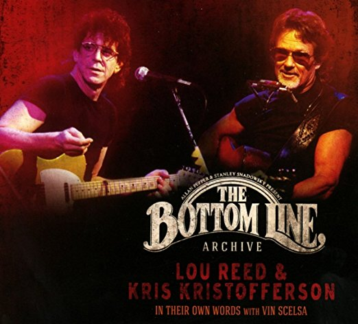 """Lou eed & Kris Kristofferson """"The Bottom Line""""   Limited 1000 quantity picture disc LP of select/'best of' tracks from Lou Reed and Kris Kristofferson's 'In Their Own words w Vin Scelsa' set from 1994 at the famed Bottom Line in NYC. Individually numbered"""