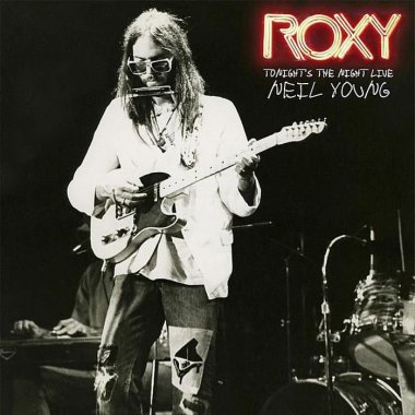 """Neil Young """"Tonight's the Night Live""""   Previously Unreleased: The Legendary First Live Performance of """"Tonight's The Night"""" from Los Angeles' Roxy Theatre in 1973. Side 4 of the vinyl includes etching design of the Roxy logo. RSD edition contains an exclusive photo print of Neil Young and the Santa Monica Flyers."""
