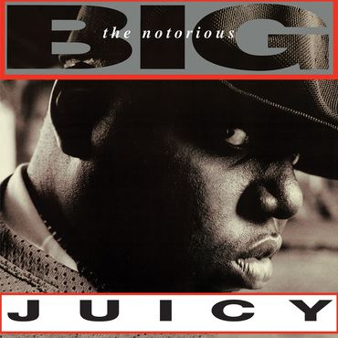 """Notorious BIG """"Juicy""""   The Notorious B.I.G. is back on vinyl for the first time since its 1994 release. This limited edition will be reissued on Clear/Black marble swirl effect vinyl as a special Record Store Day exclusive."""