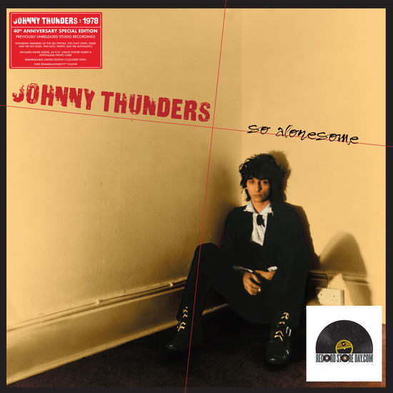 """Johnny Thunders """"So Alonesome""""   LP with Inner Bag (Black and Coloured Vinyl)"""