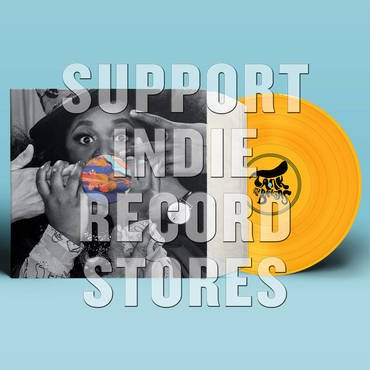 """Tank & the Bangs """"Live Vibes""""   Limited Edition yellow color vinyl. Live Vibes comes packaged in a die cut jacket and sleeves and features a very special custom color print found in the interior of the jacket. Recorded live at Gasa Gasa in New Orleans in 2017,"""