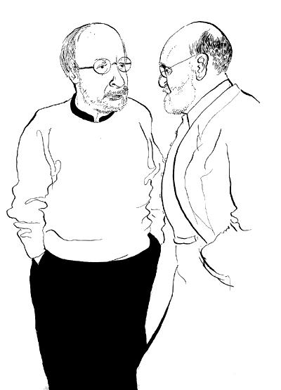E. L. Doctorow & Geoffrey Wolfe / Live Sketch / The New Yorker