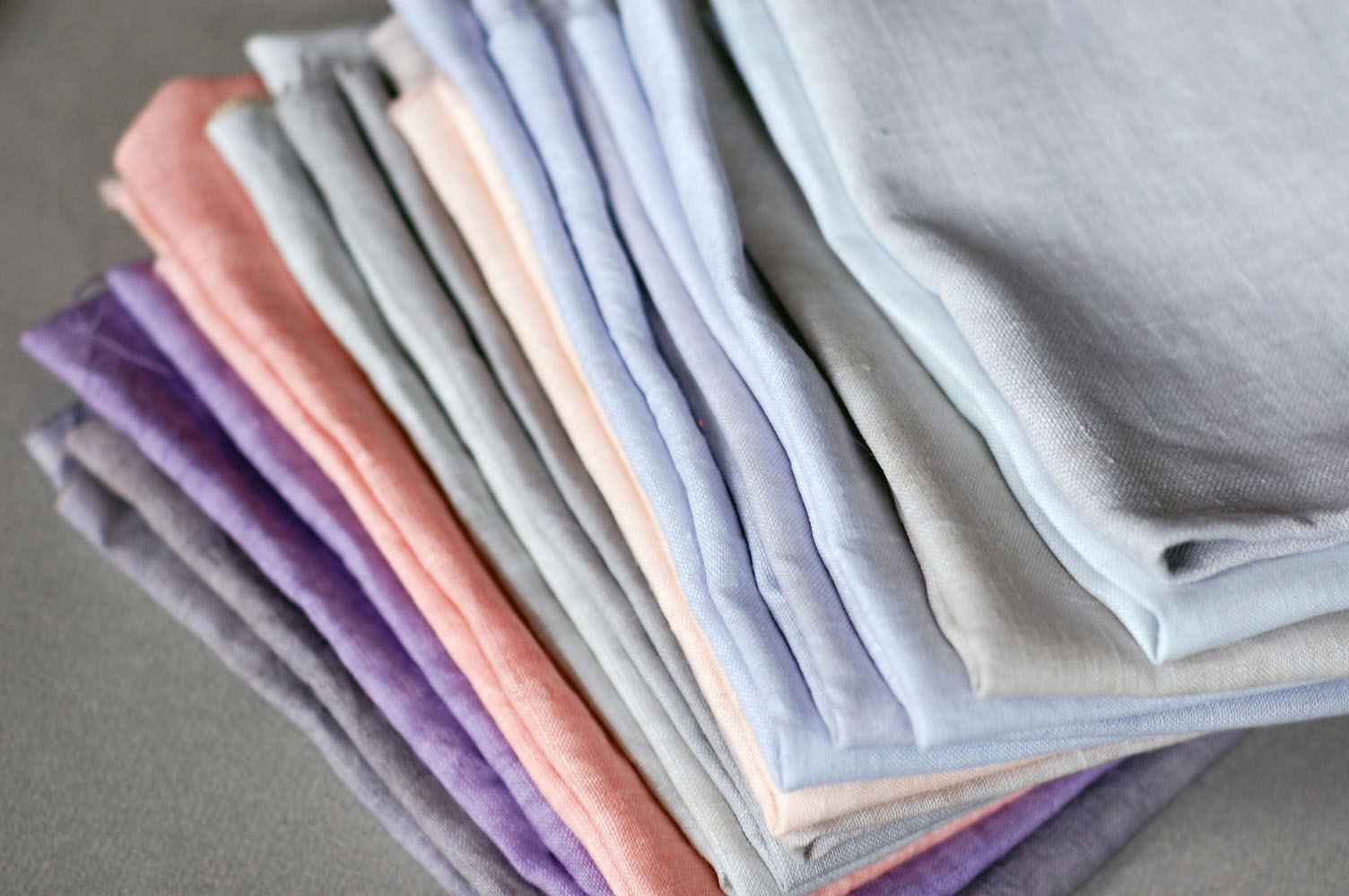 naturally dyed linen