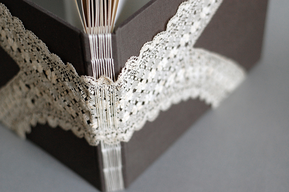 antique lace casebinding