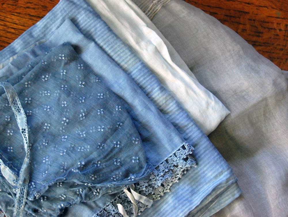 indigo dyed antique fabrics