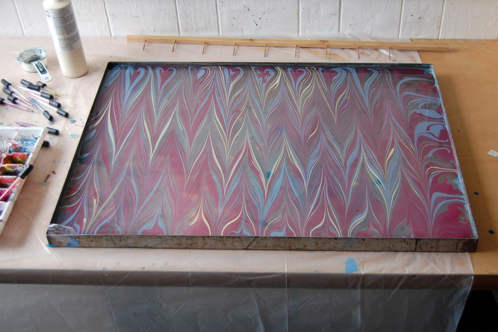 marbling patterns: nonpareil