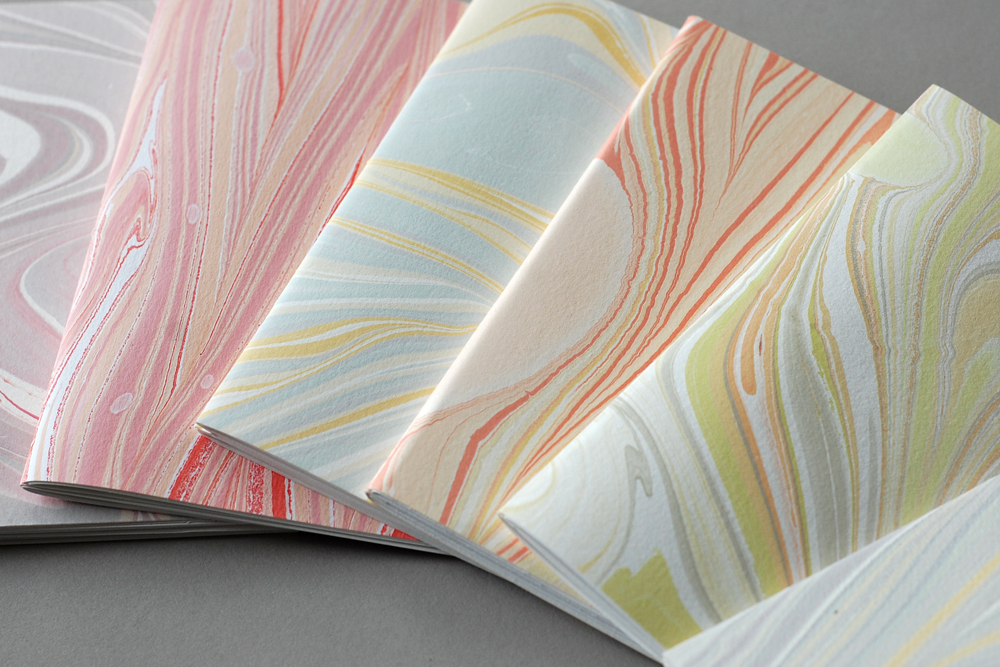 marbled softcover booklets