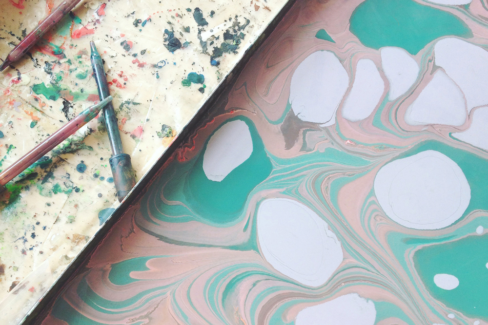 stationery marbling workshop