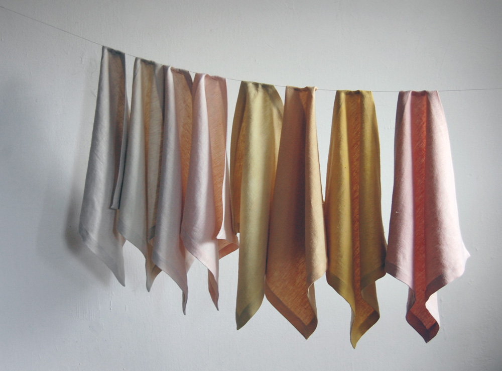 naturally dyed linens