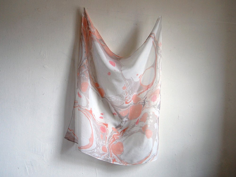 marbled silk scarf