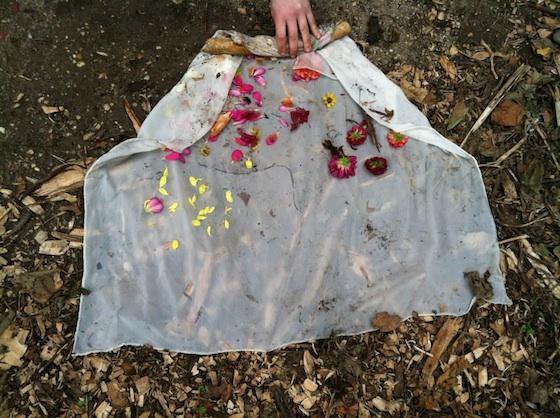 sewing seeds: bundle dyeing