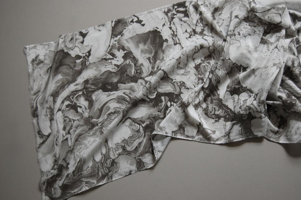 suminagashi marbled scarf xxiv