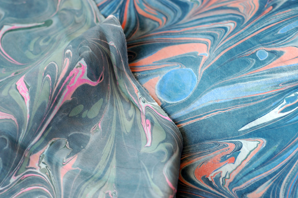 marbling for silk scarves