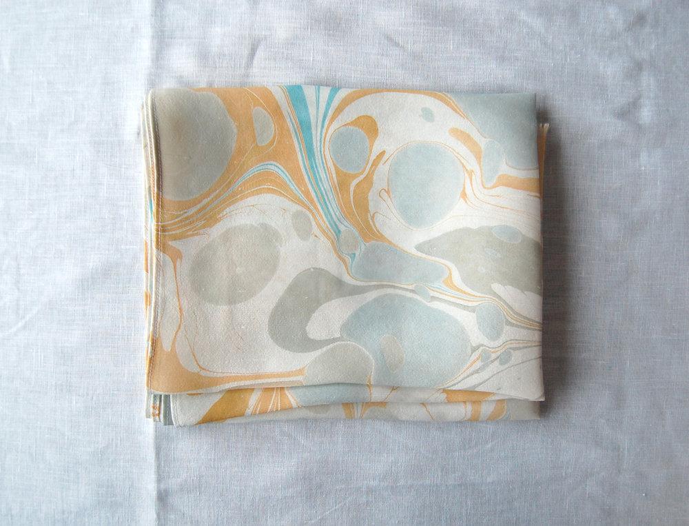 marbled silk table runner by natalie stopka