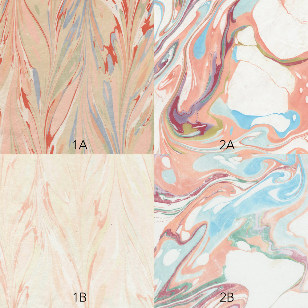marbled silk samples