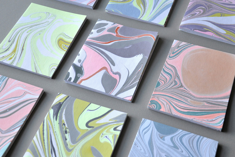 marbled notecards