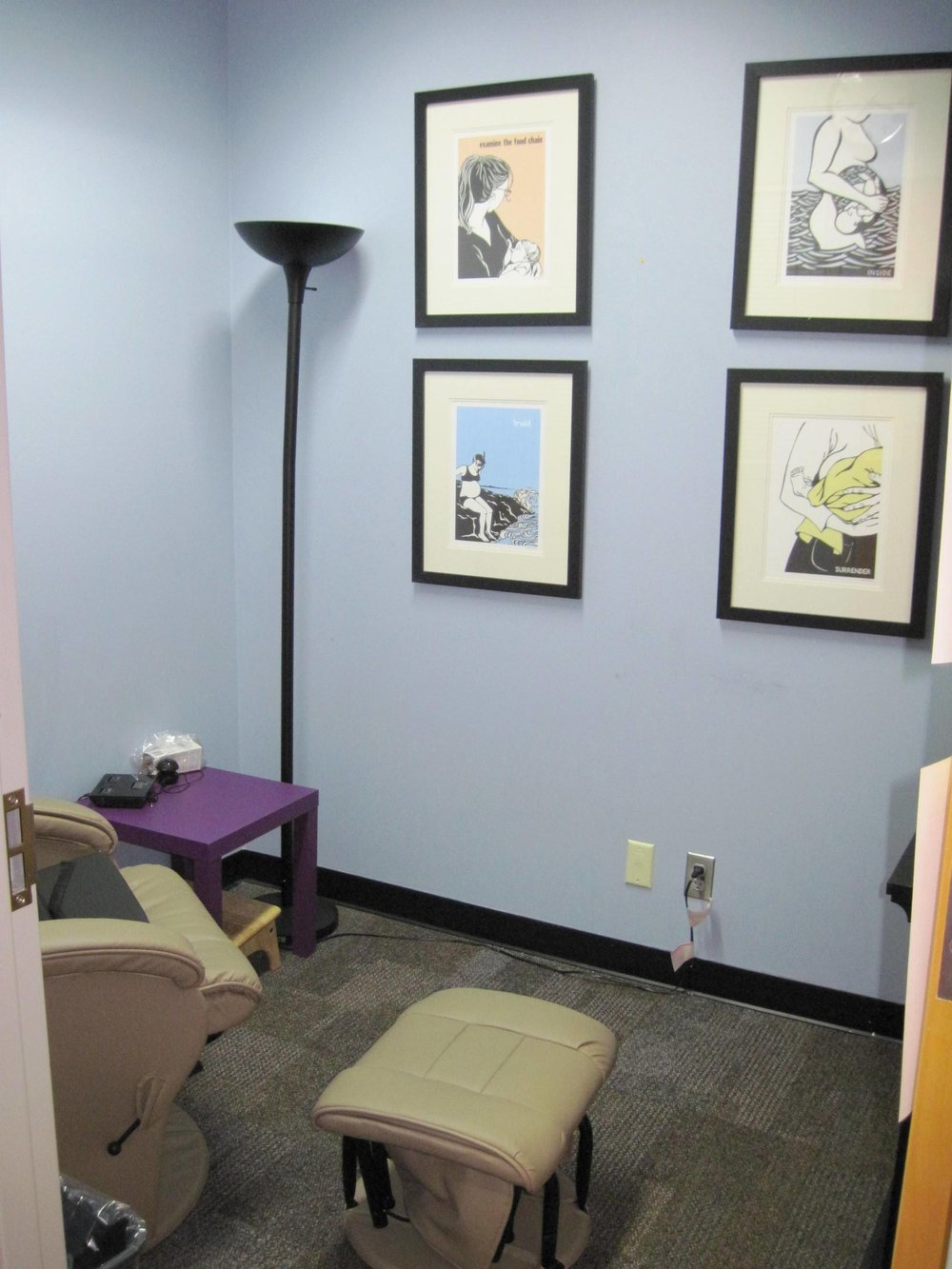 New furnishings in Lactation Room 2012.JPG