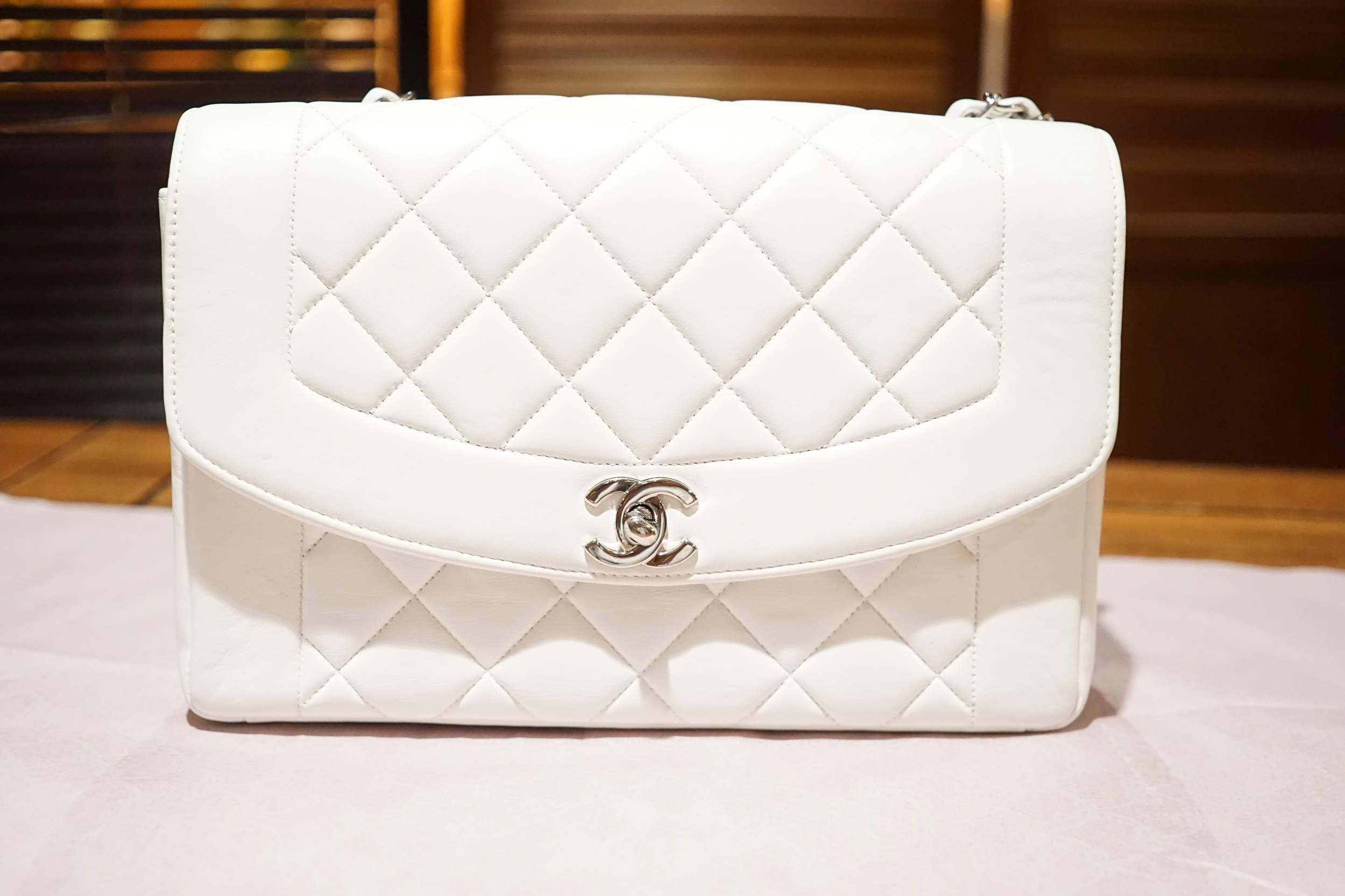 2038d9360fec0a 1996 / Chanel Princess Diana White Single Flap — Jetsetter Global