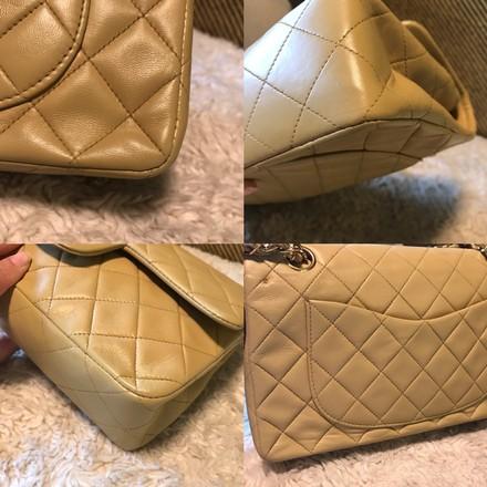 b28d9450052f7d 1993 / Chanel Dark Beige Classic Double Flap 2.55 Chain Shoulder Bag —  Jetsetter Global