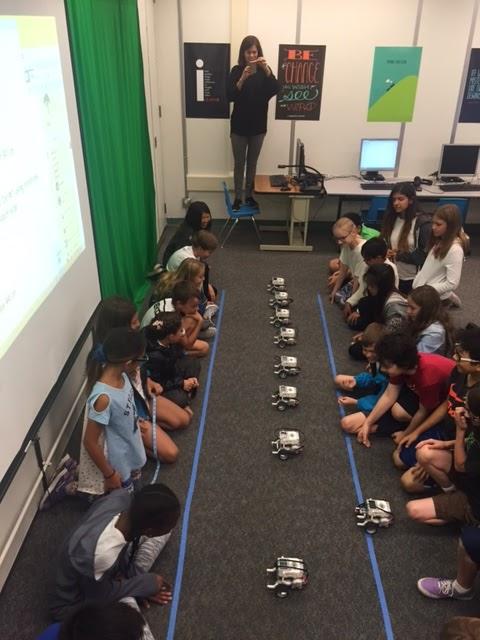 Students program and test lego EV3's.