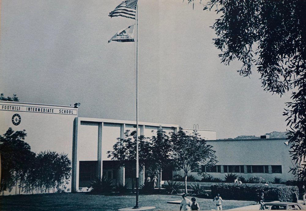 Foothill intermediate school in 1973.