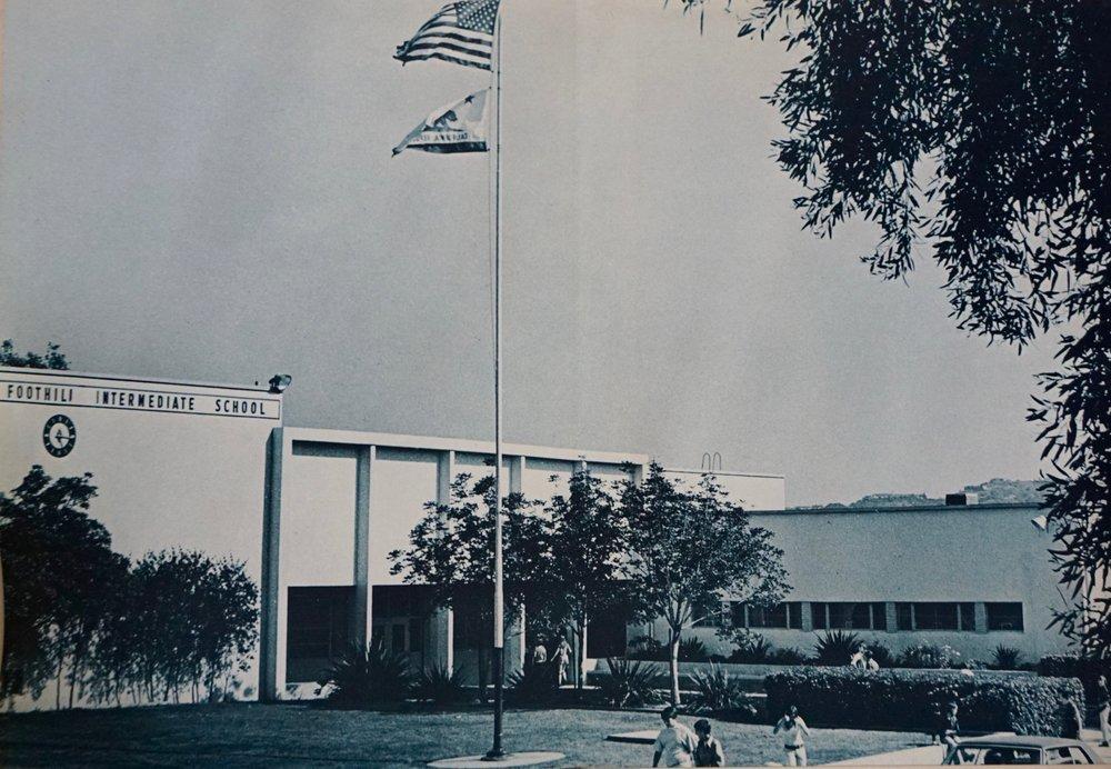 Foothill intermediate school in 1973.