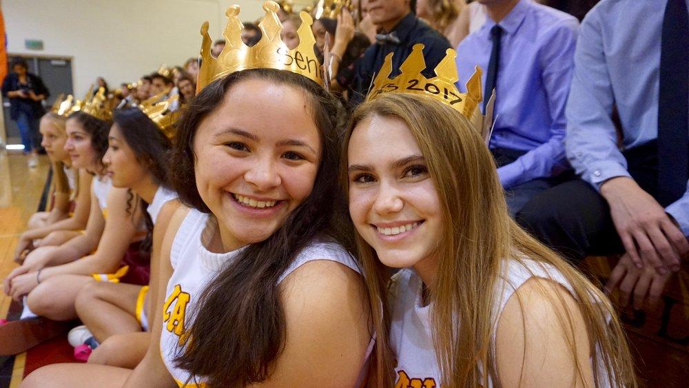 Two senior girls