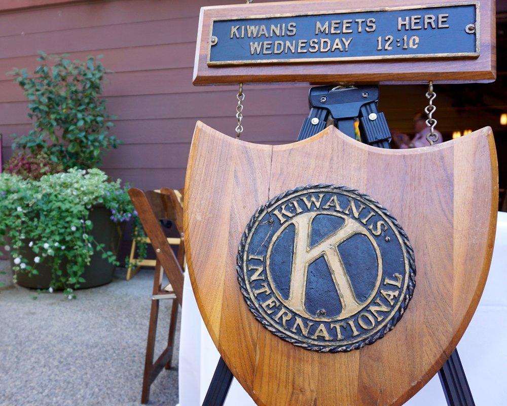 Kiwanis meeting place sign.