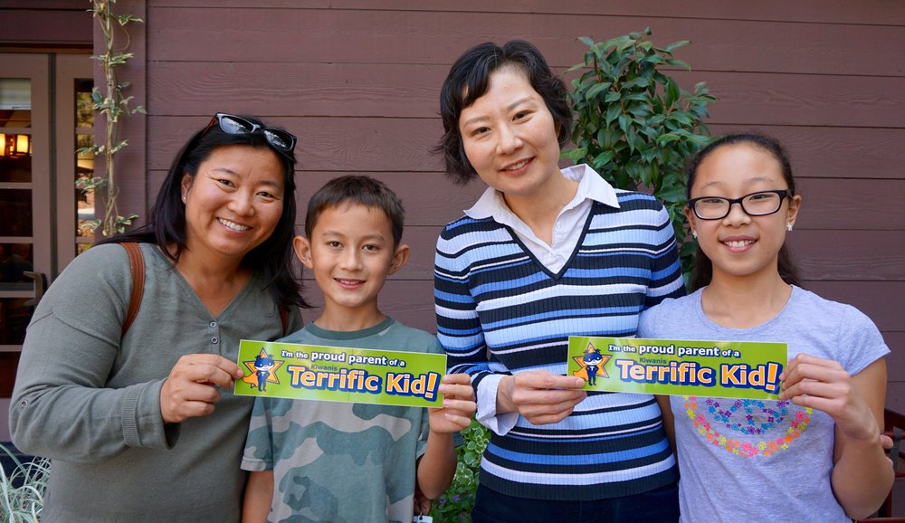 LCUSD students awarded terrific kid stickers.