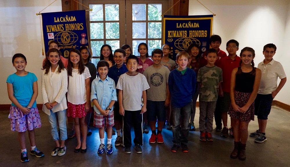 Picture of the Kiwanis members kids