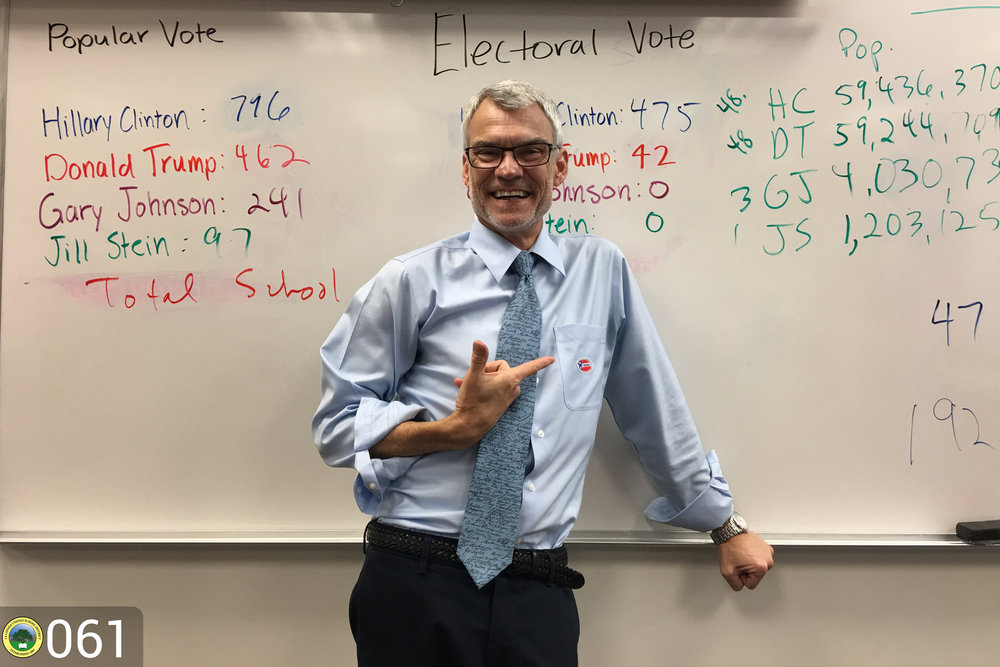 Brent Beaty shows results of poll.