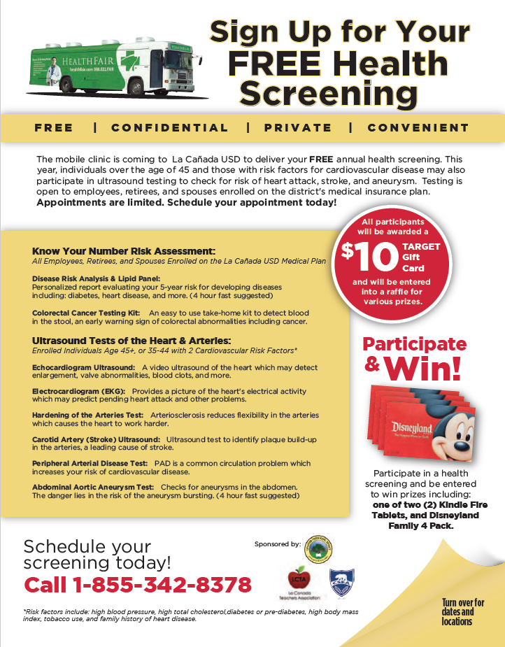 Free Health Screening Flyer